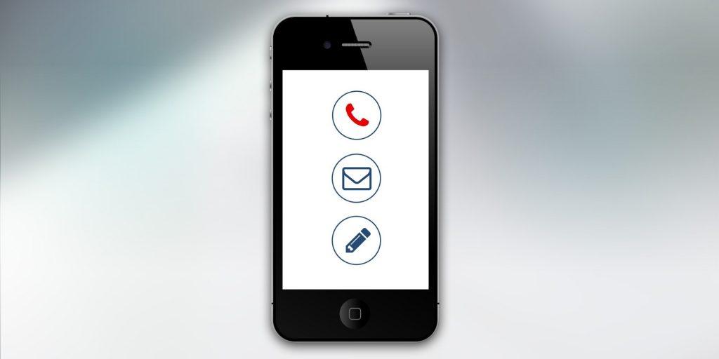 Cellulaire comme moyen de communication avec la clientèle